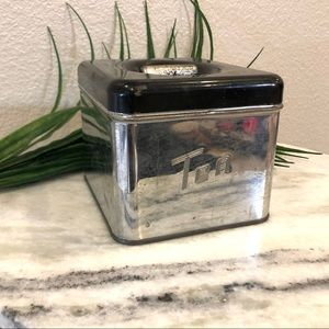 Chrome Queen Vintage Mid-Century Tea Canister